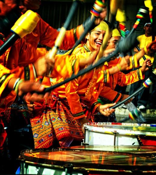 The happy drumbeaters