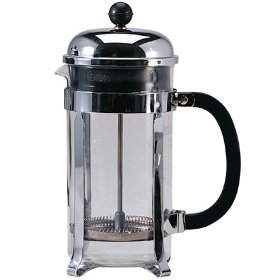 Chrome plated cafetiere