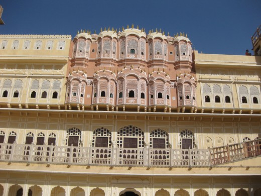 Hawamahal is the icon of Jaipur. An inside view of the wind palace, a marvel structure.