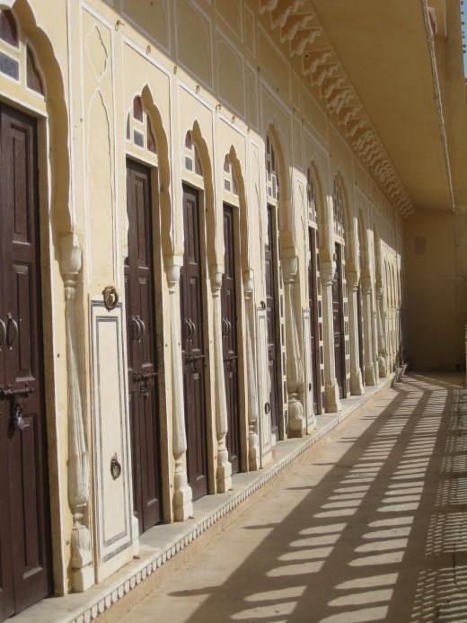 Gates in the veranda, first floor