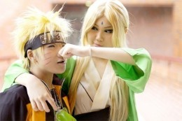 Naruto Fans enacting cosplay appearance