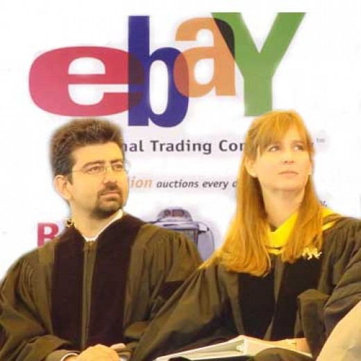 Owner and Chairperson of E-bay,Pierre M. Omidyar a French born Iranian-American entrepreneur and his wife