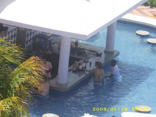 Bar located in the pool