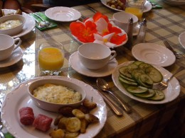 One mornings meal at Lester's B&B