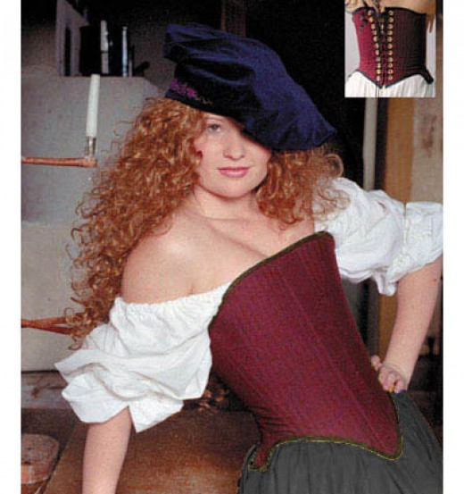 This corset is almost identical to what yours will look like! picture courtesy of http://www.sofisstitches.com/