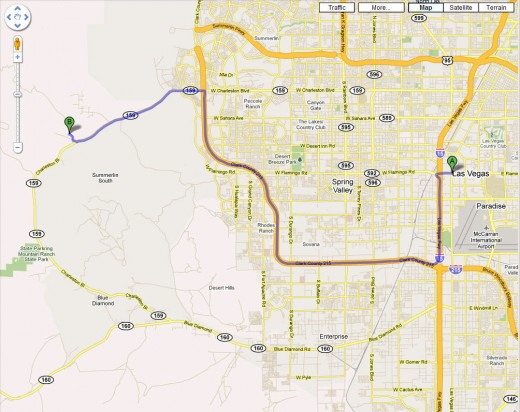 directions from las vegas to red rock canyon