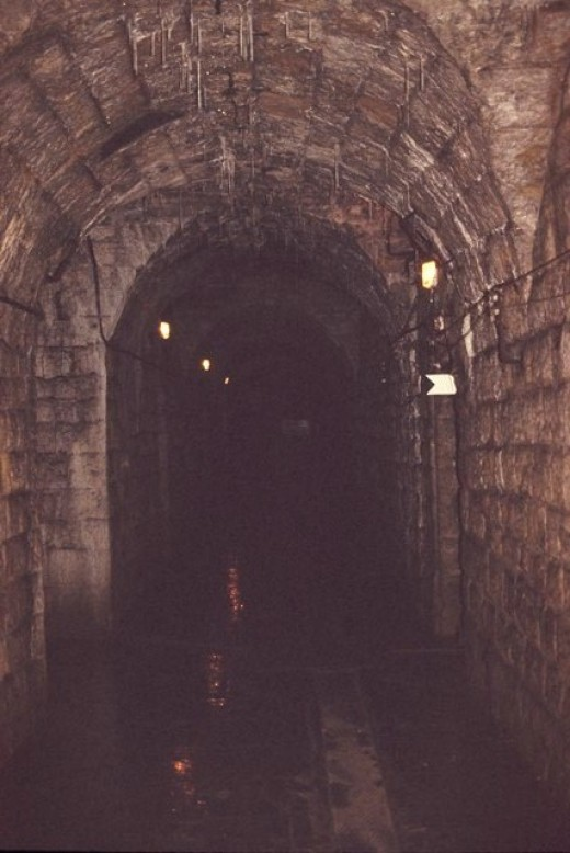 Interior corridor in Fort Douaumont at Verdun