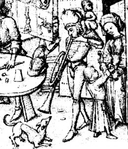 """""""Children of the Moon"""" (detail) Das mittelalterlisches Hausbuch (ca. 1480)"""