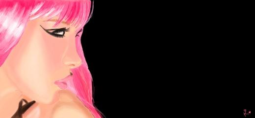 Hot pink girl