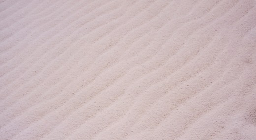 Ripples in the very whitest of sand.