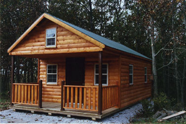 I'd love to someday have my own log cabin like this one just a brisk walk away from my main house for writing.