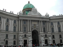The Imperial Riding Palace in Vienna, home of the Spanish Riding School. I visited and toured the immaculate stables.
