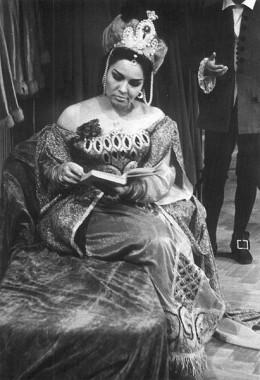 Famous opera singer Penka Koeva in Adriana Lecouvreur di Cilea