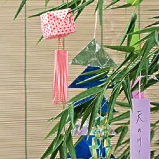 Wishes hanging from a bamboo tree.