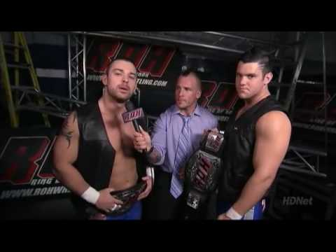 ROH World Tag Team Champions The American Wolves (Davey Richards and Eddie Edwards) Seen here with Kyle Durden