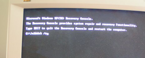 Press R from the Setup Menu to drop into the Recovery Console.