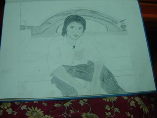 a sketch of my friend