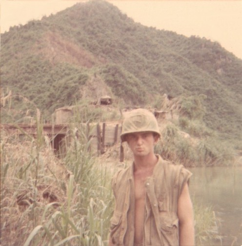 Micky Dee at the Cam Lo River near the DMZ, Vietnam