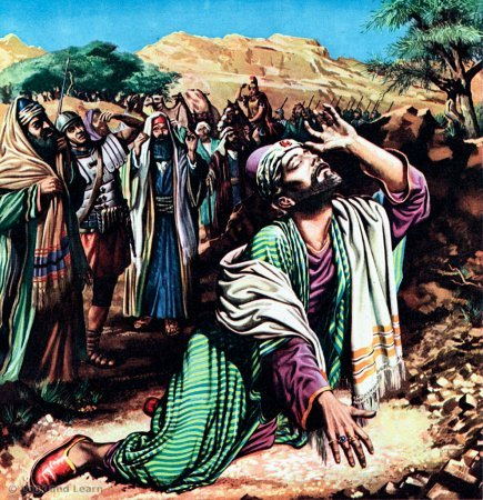 On the road to Damascus, the risen Lord Jesus Christ came down to earth from His throne in Heaven, and confronted Saul.