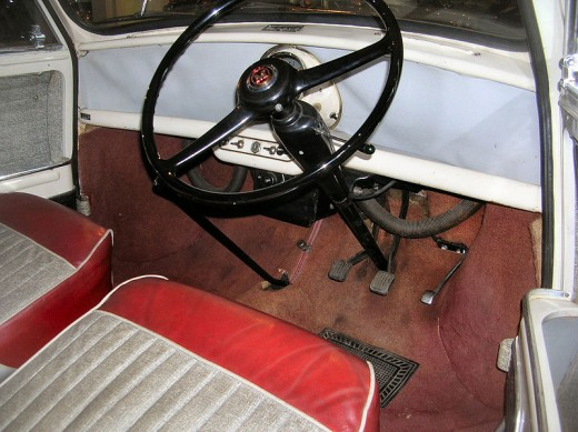 The interior of the first Minis was extremely spartan