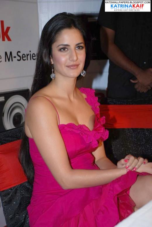 katrina kaif in pink dress