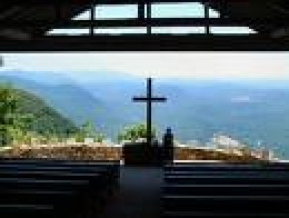 Chapel Pretty Place, Camp Greenville, North Carolina         (Spectacular view of  the Great Smoky Mountains)