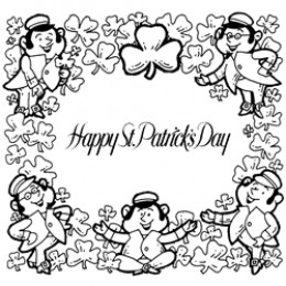 St. Patrick's Day coloring page images copyright © Dover Publications