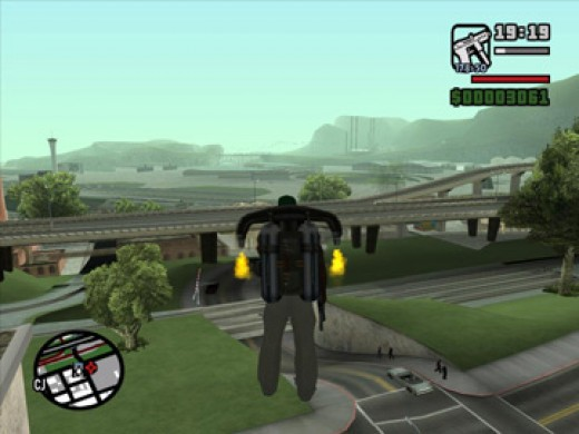 CJ was able to use a jetpack in Grand Theft Auto: San Andreas. Could this be a hint toward the future of the franchise?