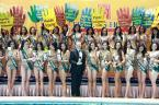 MIss Earth 2009 Candidates during press presentation