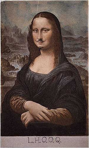 Mona with a mustache