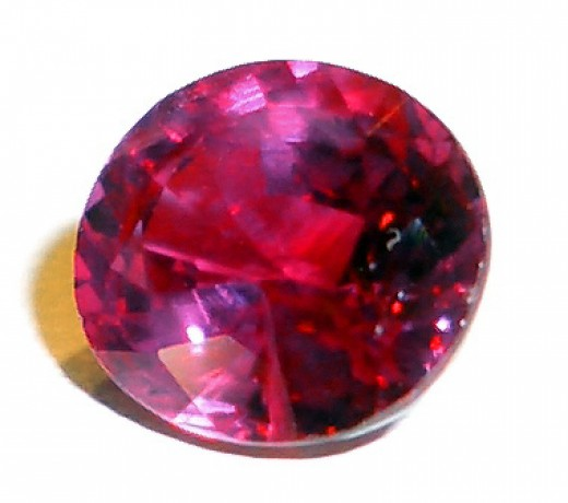 Cut ruby stone ready for a ring