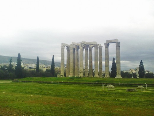 Temple of Zeus in ruins
