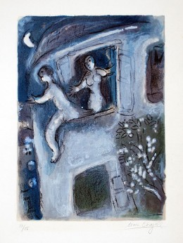 David saved by Michal by Chagall