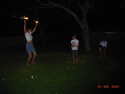 Celebrating New year on our backyard to dance and sing and be grateful for our good life.