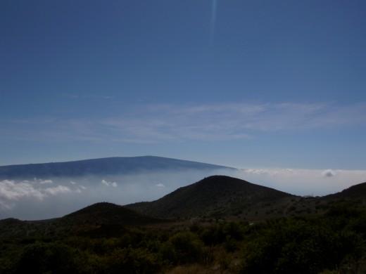 The majestic mountain peak of Mauna Kea.