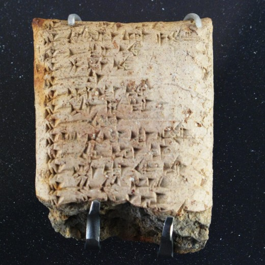 A list of the Ugaritic gods in a cuneiform tablet: written using a stylus Image Credit: Wikipedia