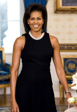 First Lady Michelle Obama, official White House portrait of 2/18/2009.