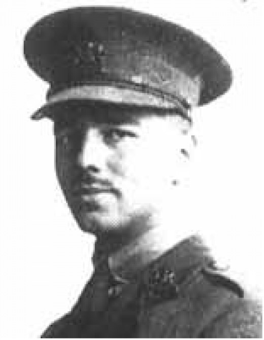 British Poet Wilfred Owen in his World War I uniform (public domain photo courtesy of WikiPedia.org  http://en.wikipedia.org/wiki/File:Wilfred-Owen.jpg)