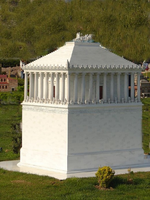 Scale model of the mausoleum