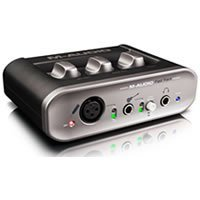 The M-Audio Fast Track DAC has the same RCA out connectors you need plus more options for input device like Microphones, Guitar Amplifiers etc.  Get this if you want to set up your own Home Recording Studio.