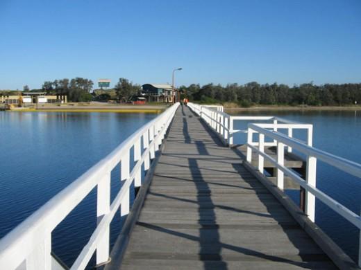 Foot bridge to the Ocean at Lakes Entrance