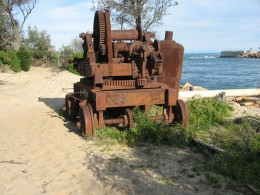 Old winch used to construct the Entrance at Lakes Entrance.