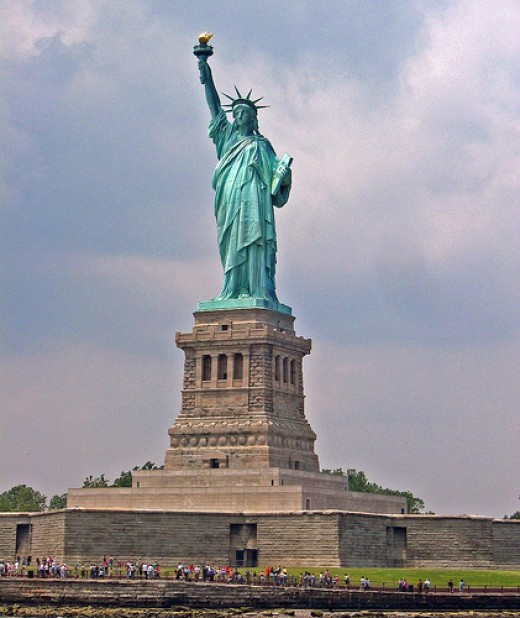 The Statue of Liberty is said to have gotten its inspiration from The Colossus of Rhodes