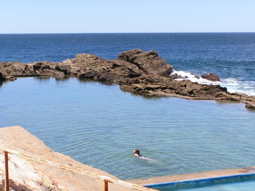 The sparkling pool at Bermagui