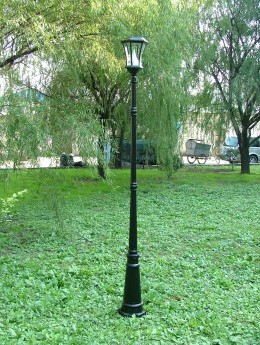 This solar lamp post is much like the ones LA uses in it's parks.