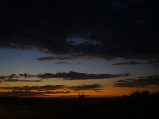 Sunset near my home.  :]