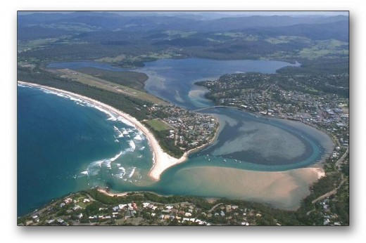 Merimbula as seen from the air