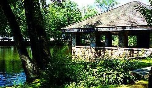 Tilley Pond Park in Darien, Connecticut.