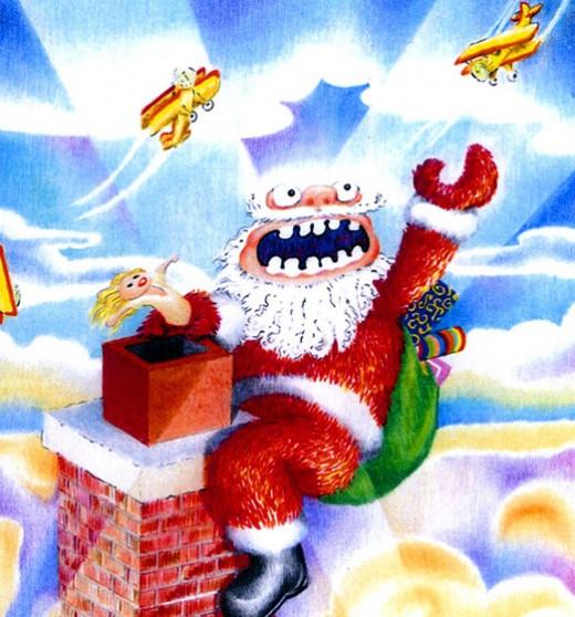 Angry Kong Santa by rlz