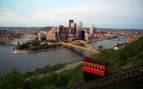Pittsburgh skyline in 2009.
